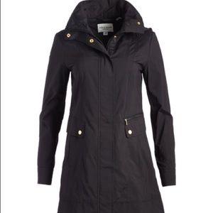 COLE HAAN Packable Rain Jacket -Mid Length w/ hood